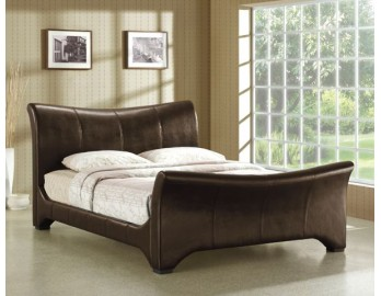 Wave Leather Bed