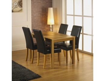 Sante Fe Table + Faux Leather Chairs