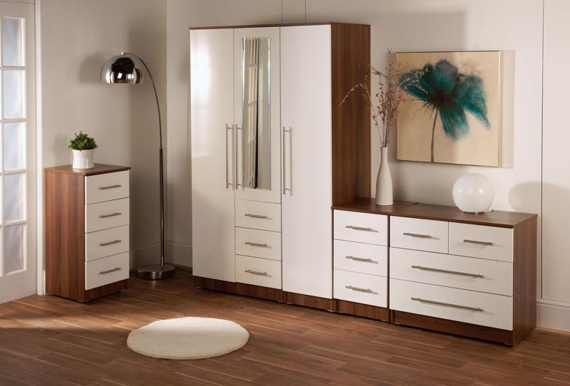 Hi gloss bedside cabinets various sizes for Bedroom furniture hawaii