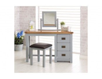 Grey Plus Oak 3 Drawer Dresser