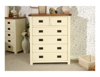 Cream Plus Oak 4 and 2 Chest