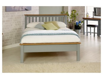 Grey Plus Oak Low End Bed Frame