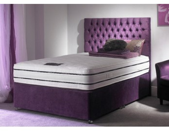 Super Orthopaedic Divan with Free Slider Foot End Storage - 9 Different Colours