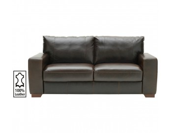 Heart Of House Eton Leather Large Sofa and Cuddle Chair Chocolate - RRP £1249.98